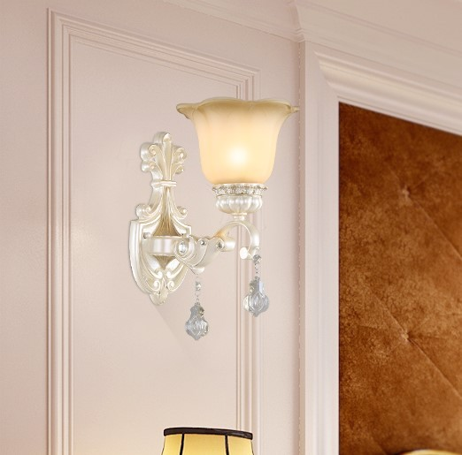 Crystal Wall Sconce Europe Led Vintage Lamp Lights Fixtures For Home Indoor Lighting Iron Wrount