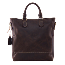ROCKCOW Crazy Horse Leather Laptop Briefcase Mens Shoulder Bag Crossbody Bag 9097
