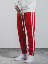 High Street 2017 new Side Stripe Pants Fashion hip hop Elastic Waist Joggers Cotton pants Casual Sweatpants Mens Trousers