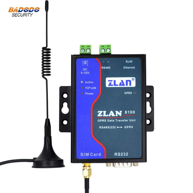 ZLAN8100 RS232 RS485 to GSM GPRS Ethernet Modem 2G serial port server router GPRS remote wireless