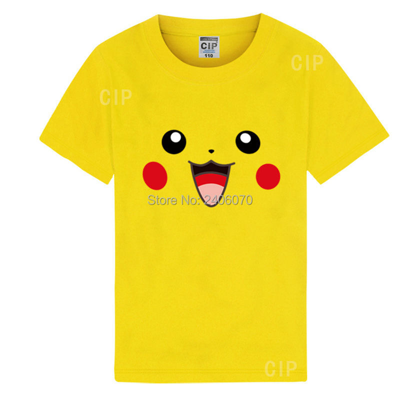 boys pokemon t shirt blank ruffle raglan shirts bape kids anime pikachu girls top wholesale summer clothes kids tee