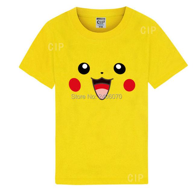 Boys Pokemon T Shirt Blank Ruffle Raglan Shirts Bape Kids