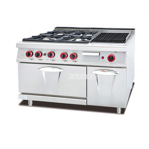 Outdoor Stove Kitchen-Equipment 4-Burners Commercial Rack Oven Gas-Cooker Rock-Grill