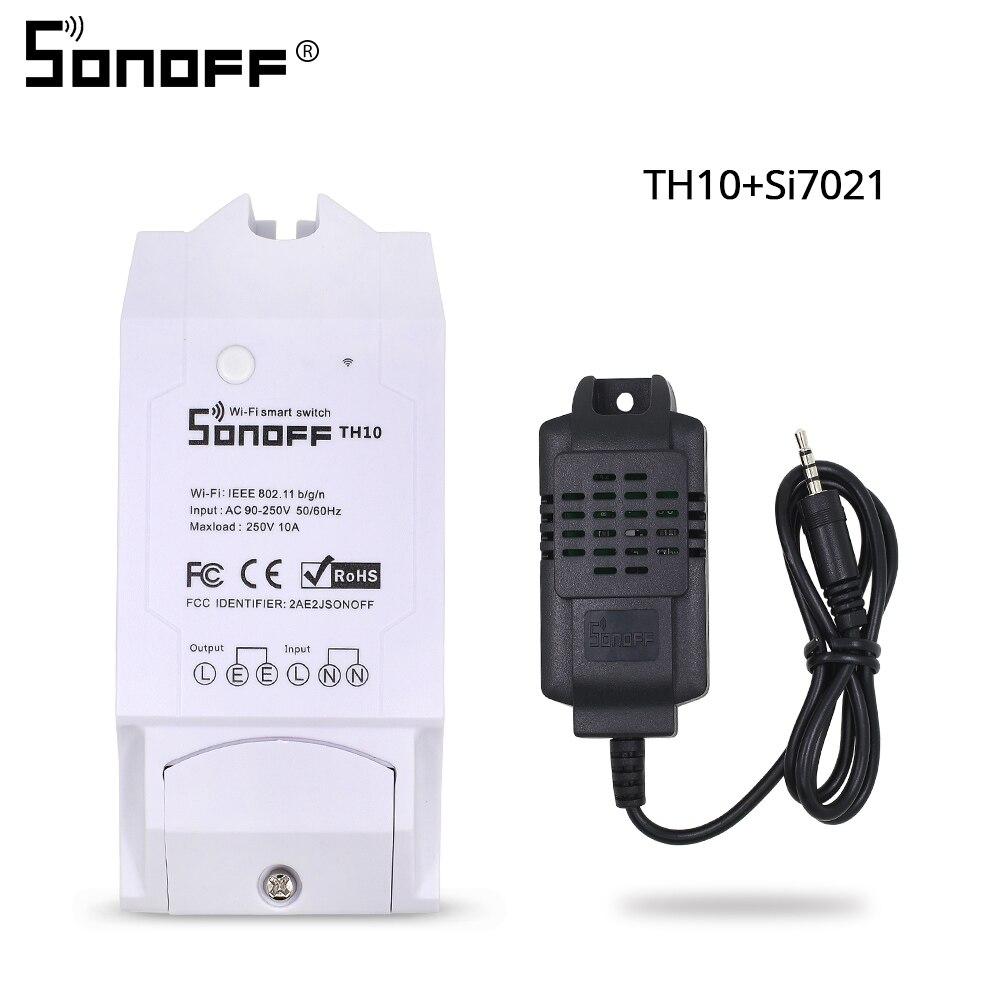 SONOFF TH10 TH16 SI7021 Feuchtigkeit Sensor Schalter Wireless Sonde Temperatur Monitor Überwachung Wifi Smart Home Remote Controller