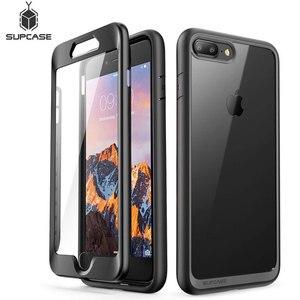 Image 1 - SUPCASE для iphone 8 Plus чехол UB стиль чистый полный корпус прочный бампер Чехол со встроенной защитой экрана для iphone 7 Plus