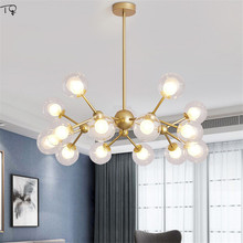 Glass Ball Chandelier Bulb Led Pendant Nordic American Molecular Style Personality Post-modern Living Room Dining Room Bedroom недорого