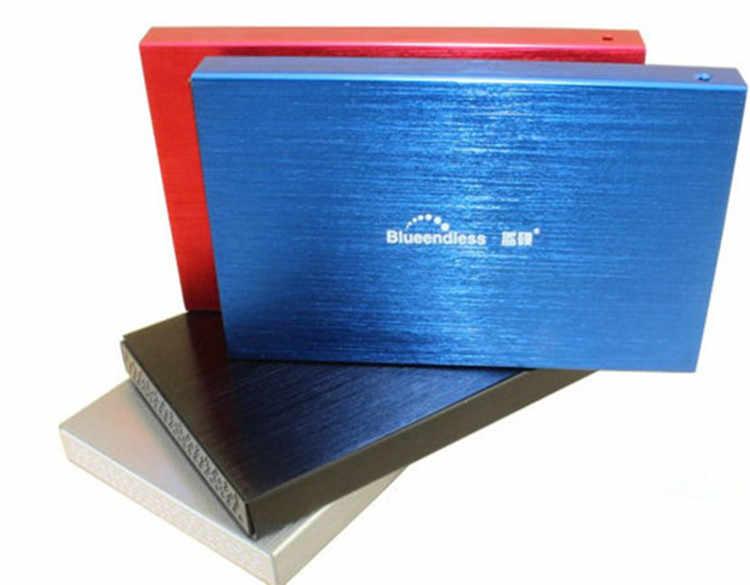 ハードディスクボックス 2.5 'ノートパソコンの SATA シリアルポートハードディスクキャディー超薄型メタルアルミ hdd ケース Enclosure1pcs/ロット blueendlessU25YA