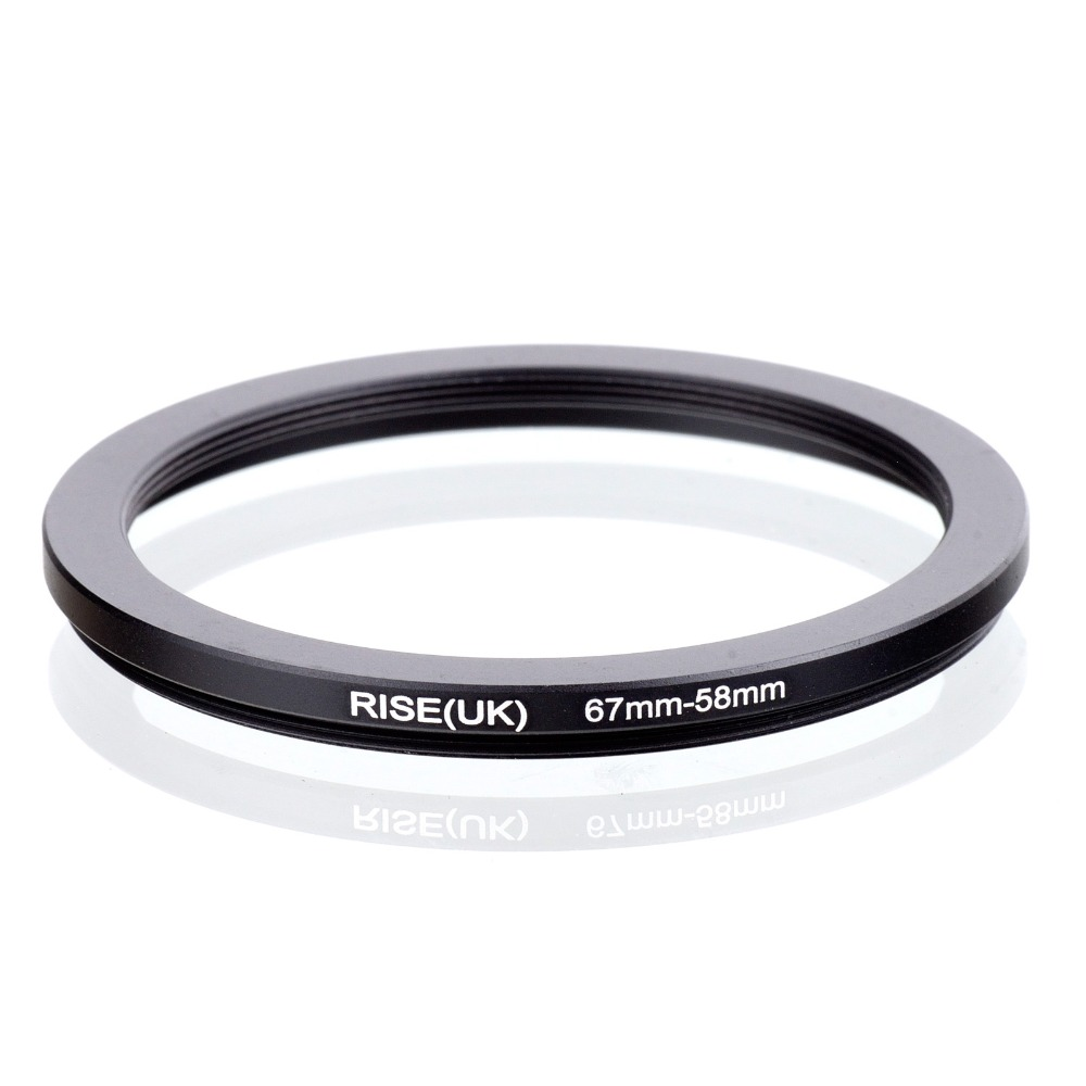 RISE(UK) 67mm-58mm 67-58mm 67 To 58 Step Down Ring Filter Adapter Black