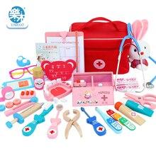 Детский деревянный Косплей доктора, игра, игрушка для ролевых игр, классические игрушки, симуляция больницы, ролевые аксессуары, набор инструментов, подарок