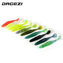 DAGEZI 30pcs/lot Fishing Swimbaits Jig Head Soft Lure 9.5cm/6g Fly Fishing Bait soft fishing lure 10colors Soft bait