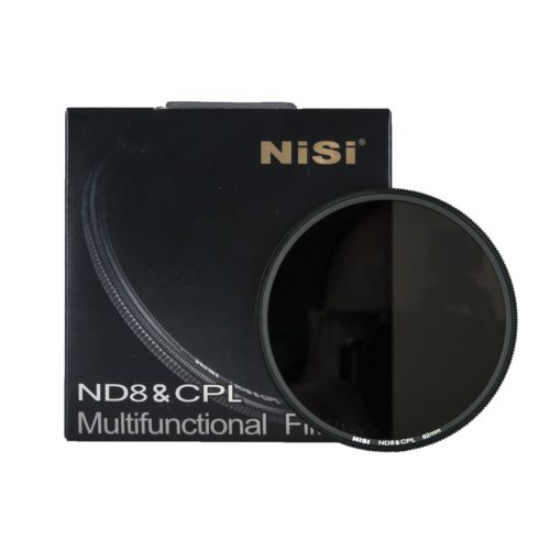 2IN1 NiSi 77mm ND8 & CPL Circular Polfilter ND Filter für Canon...