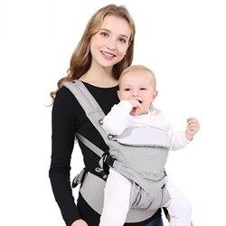 Omni aby portabebés transpirable frente a la mochila de la honda del bebé bolsa de envoltura Bebé Canguro para bebé 0-36 meses