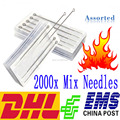 2000PCS Assorted Size Disposable Sterile Tattoo Needles For Tattoo Machine Gun Ink Cups Tips Kits