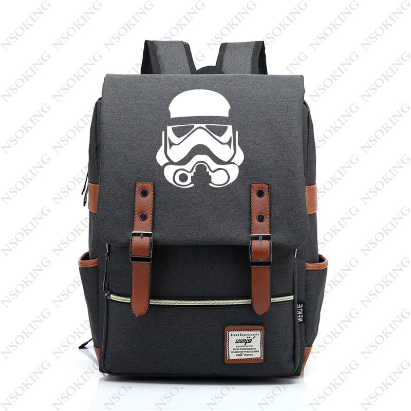 New Star War Backpack Fashion Travel Backpack Men Women Jedi Knight Student Outdoor Canvas Bag Unisex
