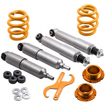 Adjustable Coilovers Suspension Kit For VW Transporter T4 / Eurovan 1990-2003 All Engine Sizes Coilover Front Rear camber Plate(China)