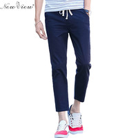 Men S Ankle Length Ninth Pants Men Casual Foot Comfortable Trousers For Male Plus Size 38