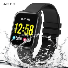Купить с кэшбэком Fitness Tracker, Waterproof  Activity Tracker with 8 Sports Modes Pedometer Heart Rate Blood Pressure Monitor Smart Watch
