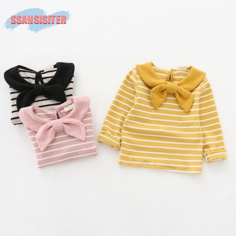 Kids T-Shirt Clothing Tops Girls Blouse Long-Sleeve Autumn Baby-Girls Striped Winter