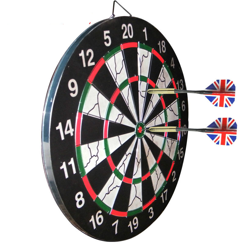 ФОТО Professional Dartboard Double Faced Flock Printing Dart Board Set with Gift Darts Each Board Set