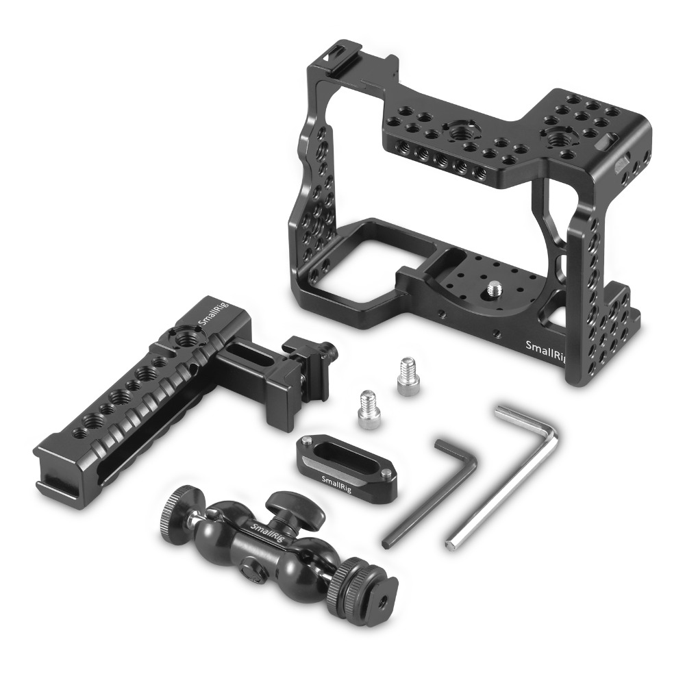SmallRig a7r3 Camera Cage Kit for sony a7m3 for Sony A7R III Camera  / A7 III Cage Rig W/ Top Handle Grip Camera Ball Head  2103-in Camera Cage from Consumer Electronics    3