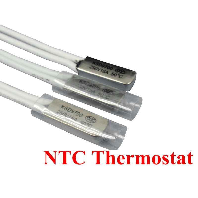 1 Pcs Thermostat 10C-240C KSD9700 40C 45C 50C 55C 60C 65C Bimetal Disc Suhu Switch N/O Thermal Protector derajat Celcius