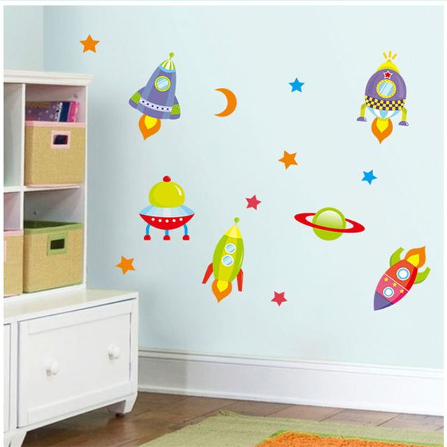 3d cartoon wall stickers for kid room diy home decoration for Stickers 3d pared