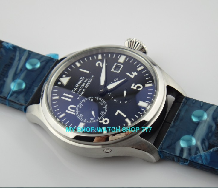 47 mm PARNIS Black dial Automatic Self-Wind movement power reserve men watches Mechanical watches G003A 3