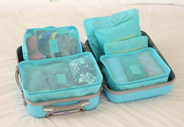 Travel Bag Suitcase Organizer Luggage Bags 6 Sets