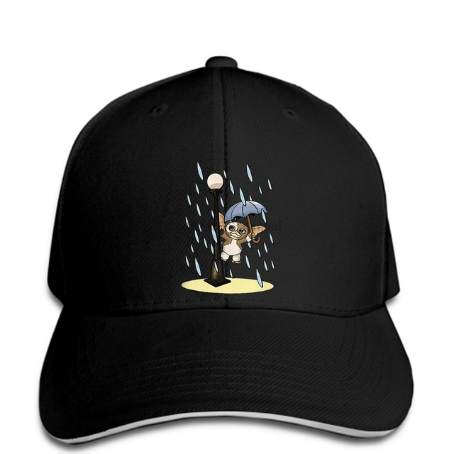 hip hop Baseball caps Funny Men hat cap Black Singing in the rain Gremlins Gremlin men Summer print hat