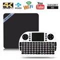 Mini M8S II S905X Amlogic Caja de la TV 4 K Android 6.0 64 Bit VP9 Decodificación 2 GB + 8 GB Set Top Box 2.4 GHz WiFi Jugador PK X96 V88 A95X