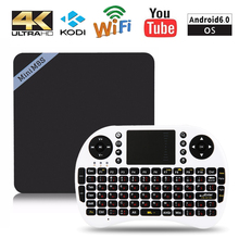 Мини S905X M8SII Android 6.0 TV BOX Amlogic Quad Core 1 ГБ 2 ГБ 8 ГБ 16 ГБ 100 Мбит 1080 P 4 К WIFI BT Smart Set Top Box Media плеер