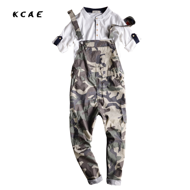 Free shipping Mens Print Casual Denim Jumpsuit Mens Jeans Overalls Camouflage Bib Pants Male Suspenders Jeans Ankle Length denim overalls male suspenders front pockets men s ripped jeans casual hole blue bib jeans boyfriend jeans jumpsuit or04