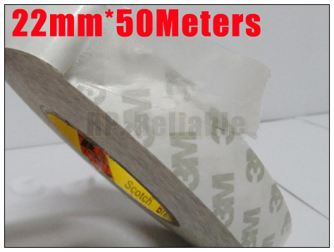 1x 22mm *50M 3M9080 2 Sides Coated Sticky Tape for Mobilephone LCD Panel Display Case Bond Repair, Nameplate LED Strip Joint 27mm 50m 3m 9080 two sides adhesive sticky tape for electrica panel lcd screen bond photo picture wood frame joint