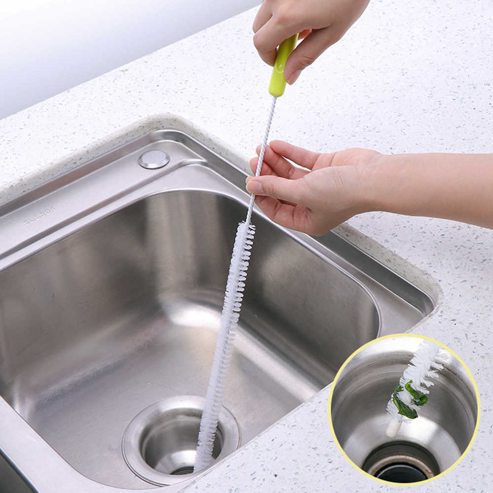 Kitchen Foldable Sewer Cleaning Brush Bendable Sink Tub Toilet Dredge Pipe Snake Brush Tools Bathroom Kitchen Cleaning Tool