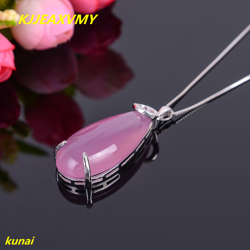 Kjjeaxcmy бутик Jewels Серебро 925 натурального нефрита порошок с ожерелье может отправить розовый ...