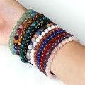 New Summer Style Natural Stone Beads Bracelet Women Men Rose Quartz/Agate/Tiger Eye Beaded Stretch Bracelets Bangles