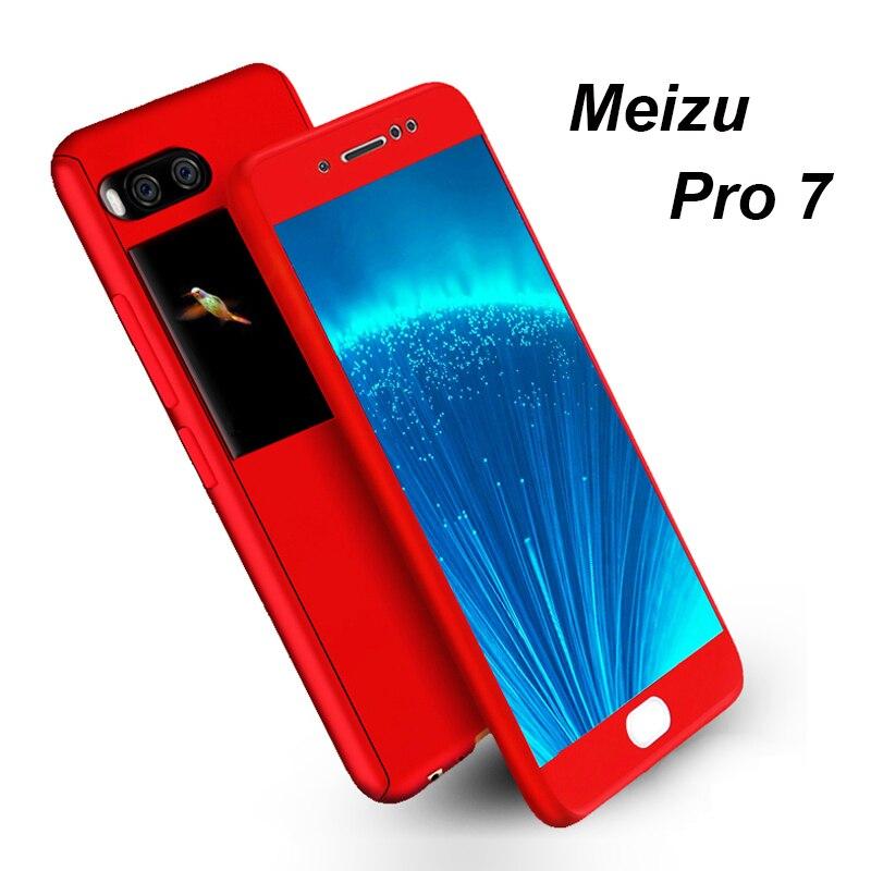360 Degree Full Cover Case Meizu Pro 7 Protective Glass + Protection Back Cover Matte Case Meizu M6 M5 note M3 note M6 M6S E3
