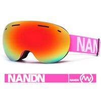 NANDN Ski Goggles Double Layers UV400 Anti fog Big Ski Mask Glasses Skiing Men Women Snow Snowboard Goggles With Original Box