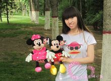 a pair small cute mickey mouse toys plush little boy mickey and pink minny mouse dolls gift about 35cm