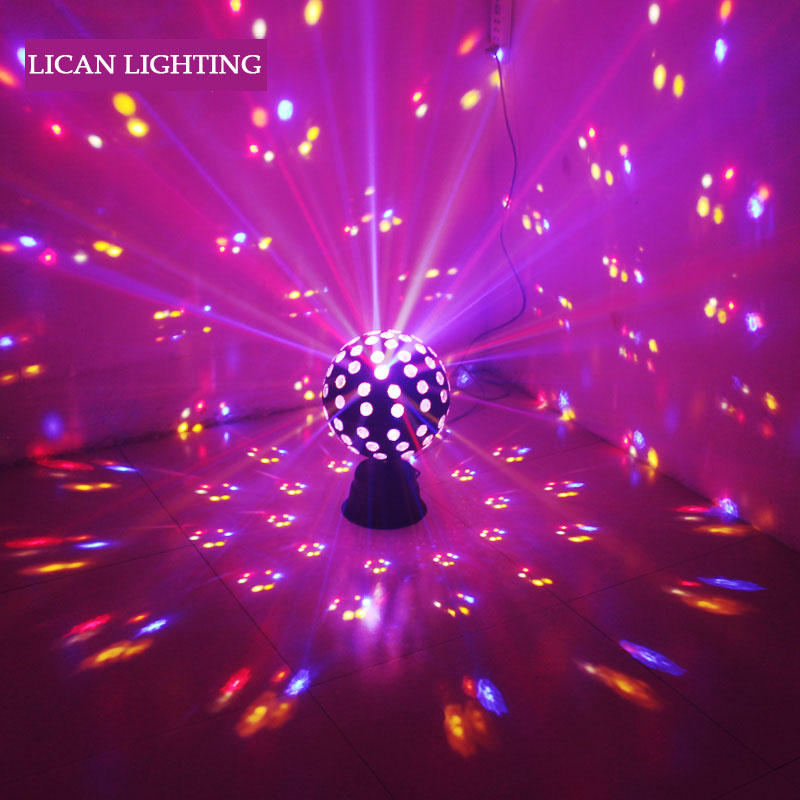 Lumiere RGB led Stage Effect Lighting 30W Auto Sound Magic Ball Disco Lighting shower laser Projector party DJ club magic Lamp mini rgb led crystal magic ball stage effect lighting lamp bulb party disco club dj light show lumiere