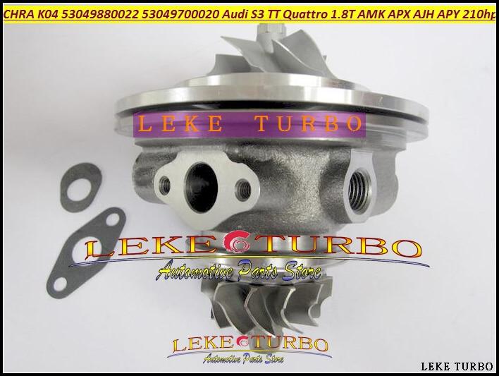 Turbo Cartridge CHRA K04 20 53049880020 53049700020 06A145704Q 06A145704M For Audi S3 TT Quattro 1.8T AJH AMK APX APY 1.8L 225HP turbo cartridge chra k04 23 53049880023 53049700023 06a145704q x for audi s3 tt 8n for seat leon 1 8t cupra r bam bfv 1 8l 225hp
