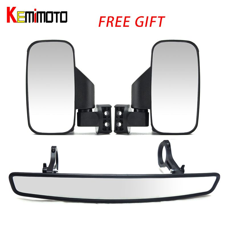 UTV Rearview Race Mirror Side View 1.75/2 Clamp for Can Am Commander Maverick 800 1000 for POLARIS RZR XP 900 for Yamaha Viking