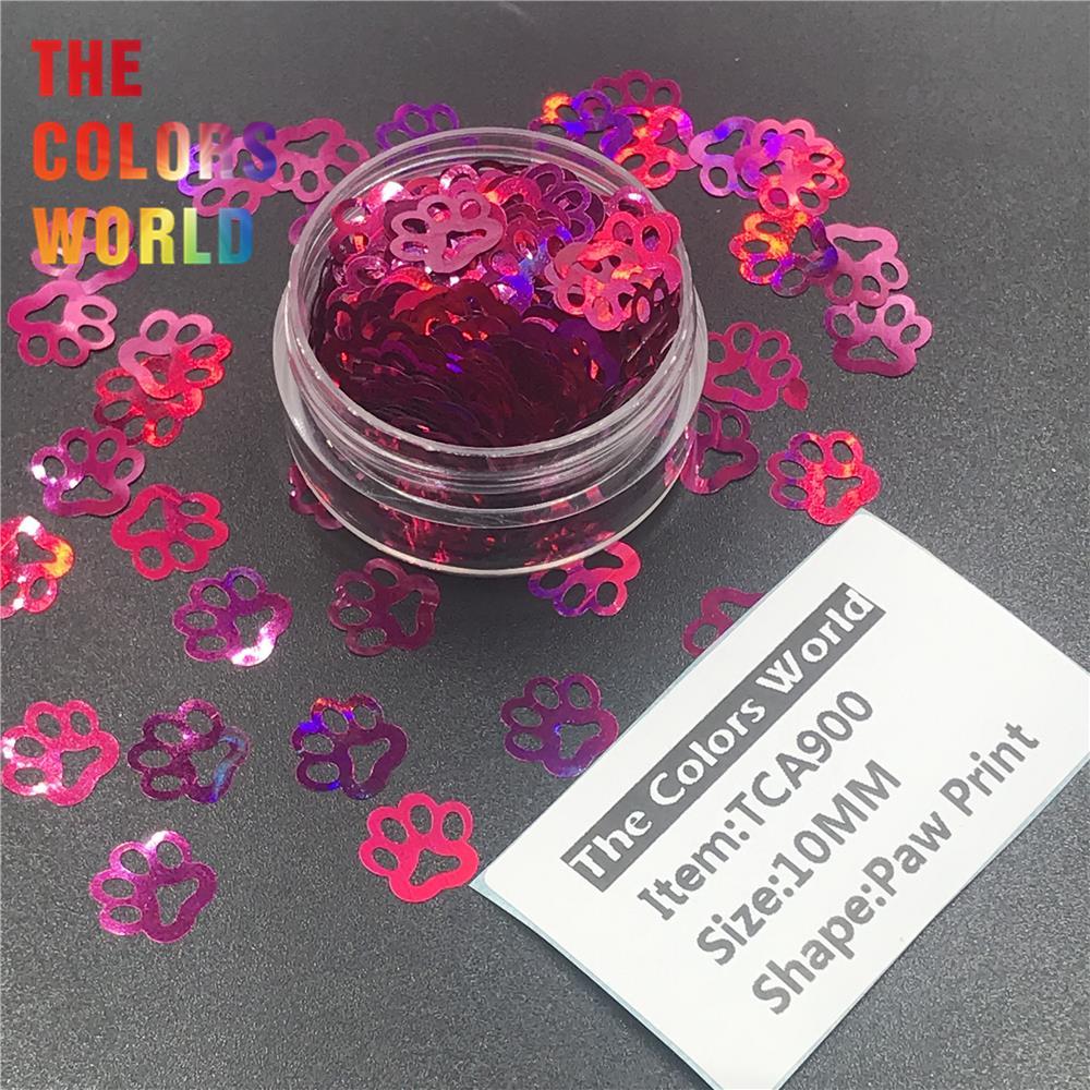 TCT-314 Лапа Печати в форме щенка голографический блестящий для ногтей Дизайн ногтей украшения боди-арт фестиваль стакан ремесло DIY аксессуары