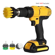 2 3.5 inch Drill Power Scrub Clean Brush For Leather Plastic Wooden Furniture Car Interiors Cleaning Power Scrub, Mutiple Colors 2 3 5 4 5 inch drill power scrub clean brush for leather plastic wooden furniture car interiors cleaning power scrub black