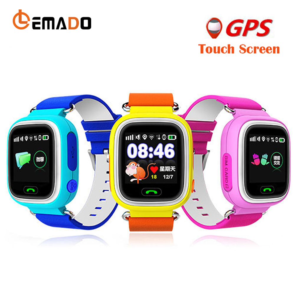 Lemado Kids GPS Smart Watch Q90 Touch Screen WIFI Watch Phone Child SOS Call tracker Device
