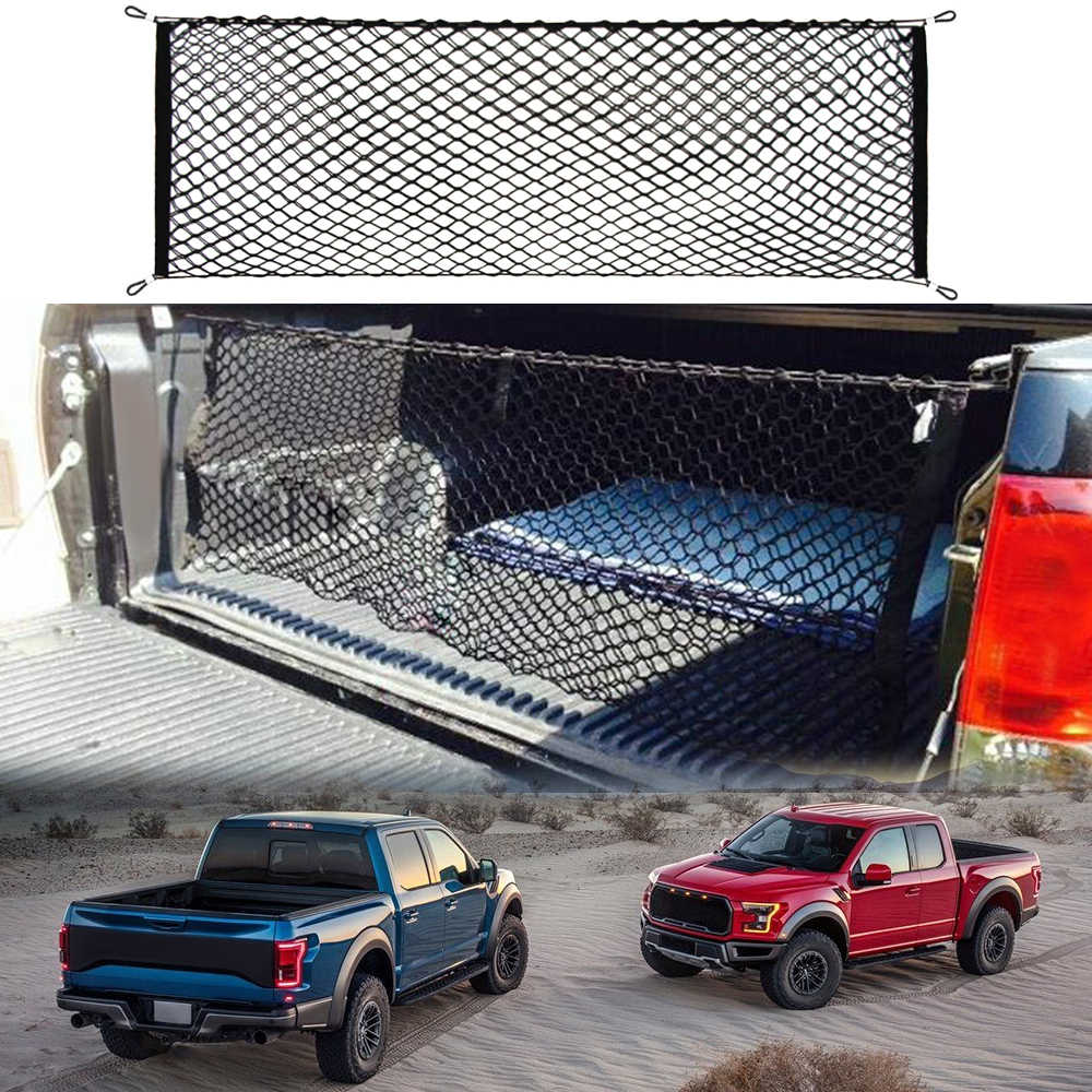 Car Trunk Envelope Style Cargo Net For Ford F150 F250 F350 F450