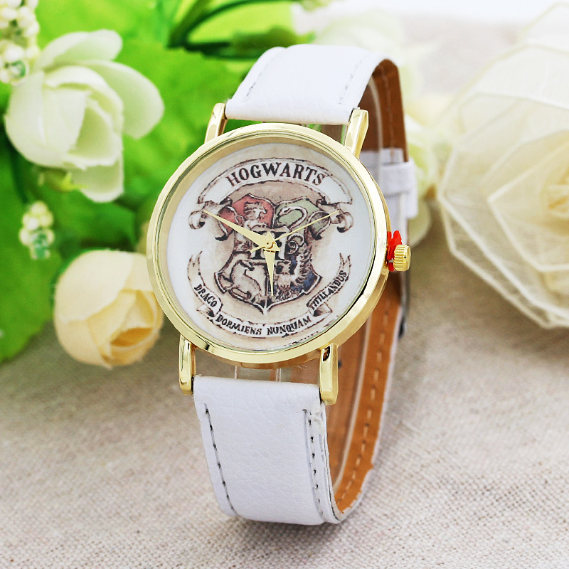 Ho Harry Potter watch fashion watch leather brand watch casual hot sale wear quartz watch for men and women erkek kol saati