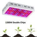 BOSSLED 1200W Double Chips LED Grow Light Full Spectrum 410-730nm For Indoor Plants and Flower Phrase Very High Yield