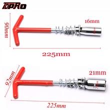 купить TDPRO 16mm 21mm Universal Spark Plug Spanner Socket Wrench T-Bar Removal Tool T-Handle Hardware Installation Repair Hand Tools дешево
