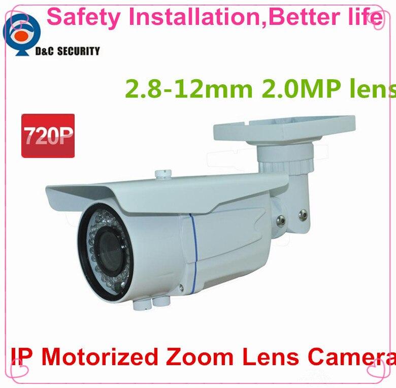 safety installation 12mm varifocal motorized lens network camera 1 0mp ir ip camera poe. Black Bedroom Furniture Sets. Home Design Ideas